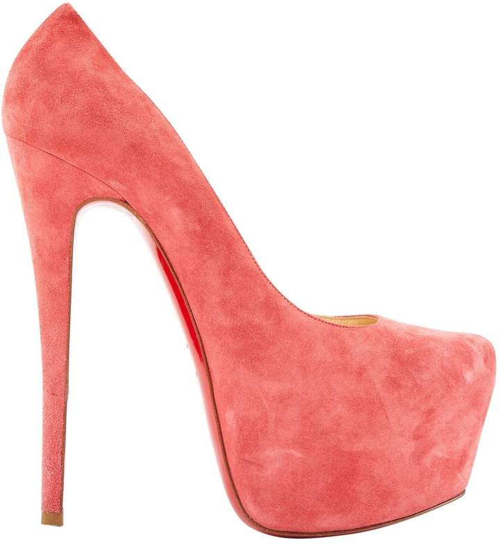 separation shoes 4aa63 99686 Daffodile Pink Suede Heels