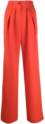 Rochas Pleated Wide Leg Trousers