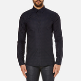 Hugo Elisha Long Sleeve Dobby Shirt Navy