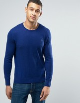 Polo Ralph Lauren Crew Neck Cotton Jumper In Blue