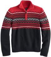 Chaps Boys 8-20 1/4-Zip Striped Sweater