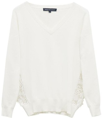 French Connection Tessa Lace Knits V Neck Jumper