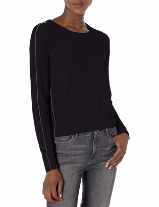 Splendid Women's Long Sleeve Cashmere Blend Pullover Popstitch Sweater
