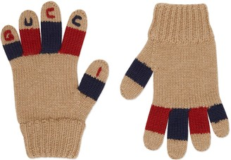 Gucci Children's wool gloves with embroidery