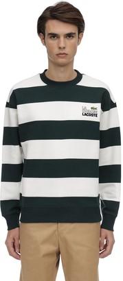 Lacoste La Chemise Striped Cotton Sweatshirt