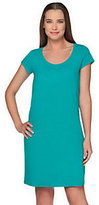 As Is Isaac Mizrahi Live! Scoop Neck Short Sleeve Knit Dress