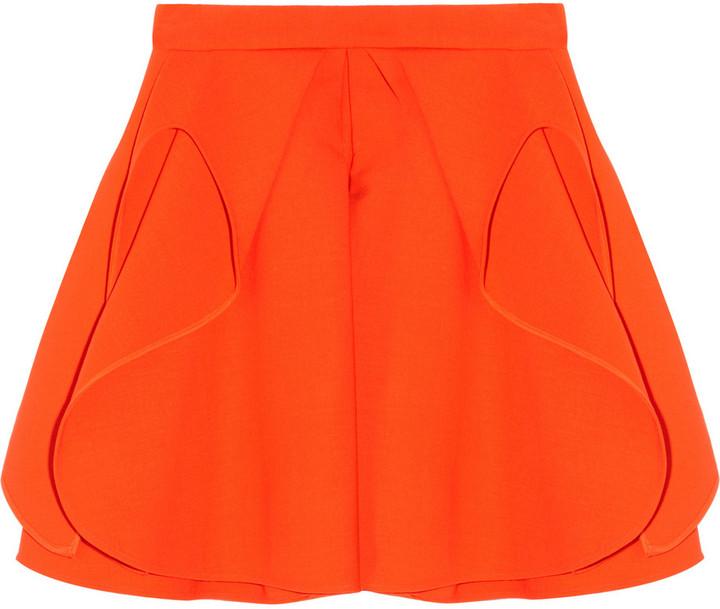 Antonio Berardi Folded stretch-wool mini skirt