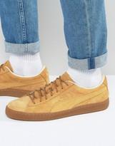 Puma Basket Classic Winterized Sneakers In Tan 36132401