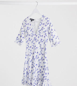 Parisian Tall tea dress in blue floral