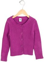 Petit Bateau Girls' Knit Button-Up Cardigan