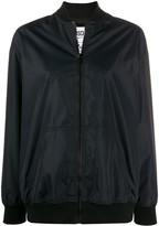 Moschino logo teddy bomber jacket