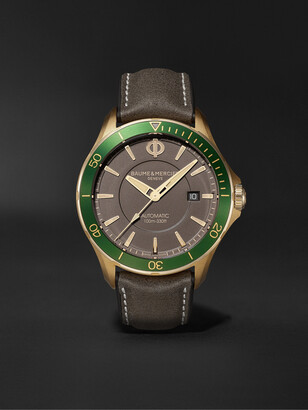 Baume & Mercier Clifton Club Automatic 42mm Bronze and Leather Watch, Ref. No. M0A10565 - Men - Green