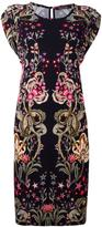 Roberto Cavalli floral printed shortsleeved dress - women - Viscose - 42
