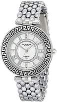 Akribos XXIV Amazon Women's Pure Elegance Diamond Watch with Two-Tone Bezel and Roman Numerals AK808YG