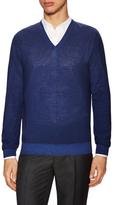 Z Zegna Wool V-Neck Sweater