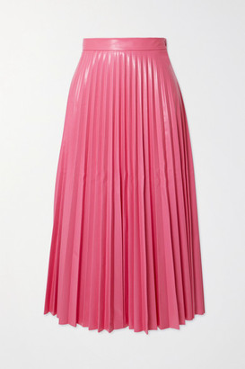 MM6 MAISON MARGIELA Pleated Vinyl Midi Skirt - Pink