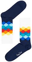 Happy Socks Faded Diamond Socks, One Size