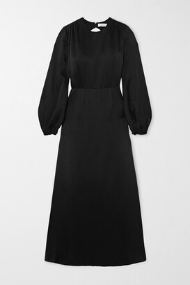 Racil Open-back Crepe De Chine Maxi Dress - Black