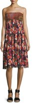 Fuzzi Paisley & Floral-Print Skirt/Dress