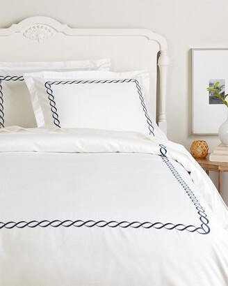 Melange Home Rope Embroidered 600Tc Cotton Duvet Set