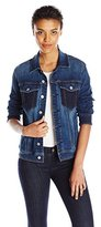 7 For All Mankind Women's Denim Jacket with Pockets