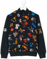 Dolce & Gabbana sports print zipped sweatshirt