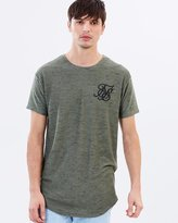 SikSilk Inject Waffle Curved Hem Tee