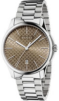 Gucci Stainless Steel Brown Dial Bracelet Watch