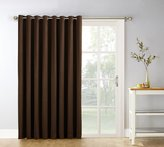 Sun Zero Easton Extra Wide Blackout Energy Efficient Grommet Patio Door Curtain Panel, 100 x 84 Inch, Brown
