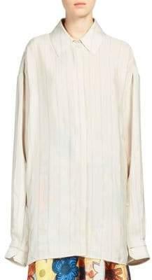 Acne Studios Britta Button Front Shirt