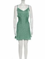 Thumbnail for your product : Ter Et Bantine V-Neck Mini Dress Green