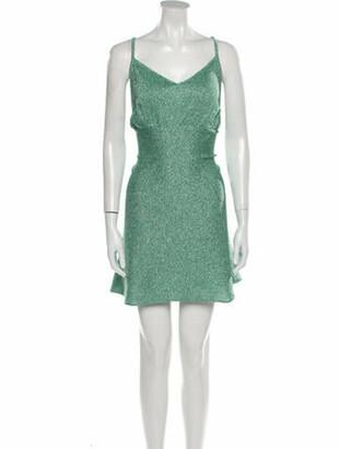 Ter Et Bantine V-Neck Mini Dress Green