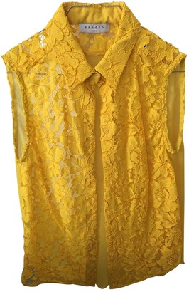 Sandro Yellow Lace Top for Women