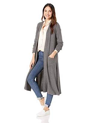 Three Dots Women's QQ7460 Brushed Sweater Long Cardigan