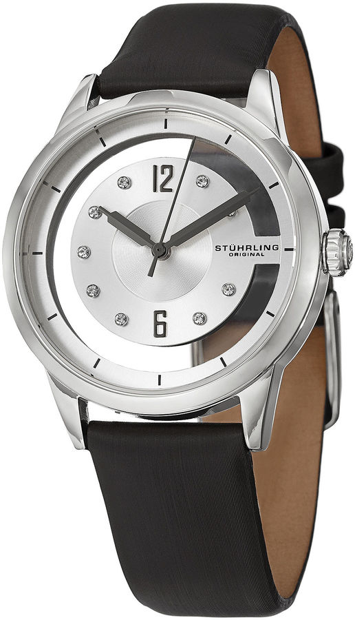 Stuhrling Original Womens Black Strap Watch-Sp15171