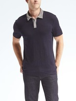 Banana Republic Linen Stretch Polo