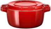 KitchenAid 24cm Round Casserole Dish - Empire Red