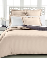 Charter Club CLOSEOUT! Damask Stripe Twin Duvet Cover, 500 Thread Count 100% Pima Cotton