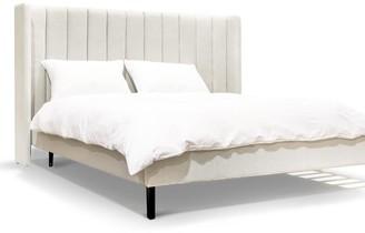 Calibre Furniture Willis Bed King Stone Grey