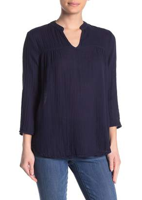 Michael Stars Raelynn V-Neck Gauze Top