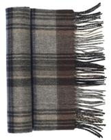 Johnston & Murphy Wool Cashmere Micro-Herringbone Plaid Scarf