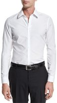 Gucci Basic Slim-Fit Woven Dress Shirt, White