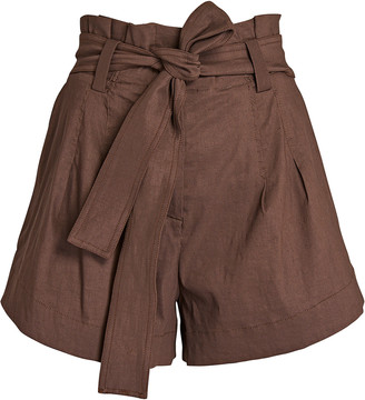 A.L.C. Joey Linen-Blend Paperbag Shorts