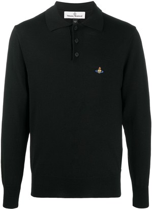 Vivienne Westwood Embroidered-Logo Virgin-Wool Polo Shirt