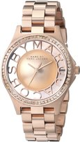 Marc Jacobs Marc by Women's MBM3339 Skeleton Rose -Tone Stainless Steel Watch with Link Bracelet