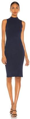 L'Agence Mina Sleeveless Turtleneck Dress