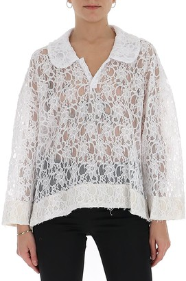 Comme des Garcons Peter Pan Collared Lace Blouse