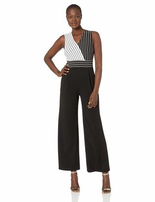 Calvin Klein Women's Sleeveless V Neck Jumpsuit