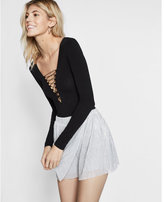 Express high waisted wrap skort