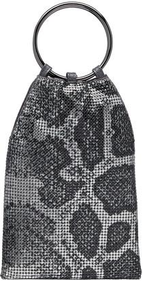 Whiting & Davis Python Metal Mesh Bracelet Pouch Bag